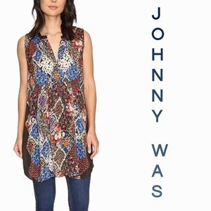Johnny Was large patchwork tunic mini dress
